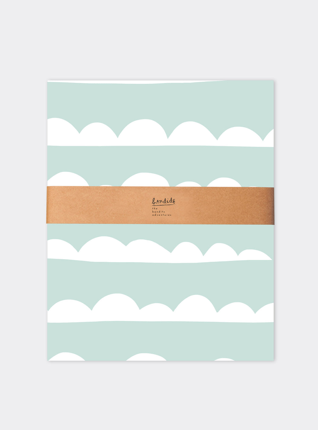 Set of Duvet cover + pillowcase  Mint Waves (90 cm bed)