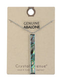 Abalone Bar Necklace - Silver Tone