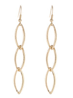 Chain Link Matte Gold Tone Earrings