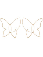 Cressida Butterfly Drop Threader Hoop Earrings