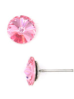 Crystal Lt. Rose Earrings Made with Swarovski Elements