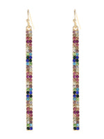 Crystal Pave Bar Drop Dangle Earrings