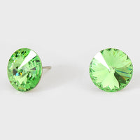 Crystal Peridot Green Earrings Crystal Swarovski Elements