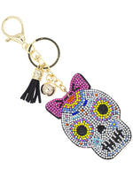 Day of the Dead - Día de los Muertos - Sugar Skull Keychain - Female