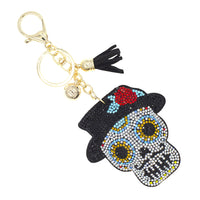Day of the Dead - Día de los Muertos - Sugar Skull Keychain - Male