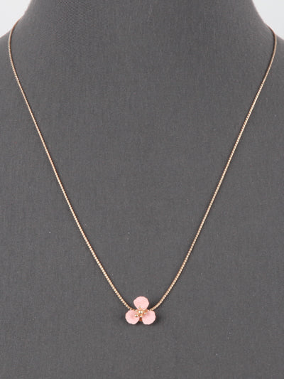 Delicate Pink Power Flower Necklace