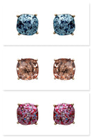 Designer Inspired Glitter Square Stud Fashion Earrings