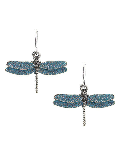Dragonfly Drop Dangle Blue Turquoise Color Fashion Jewelry Earrings