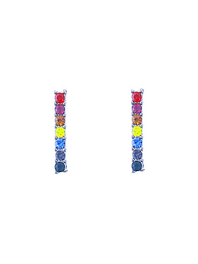 Mini Bar Rainbow Minimalist Stud Earring