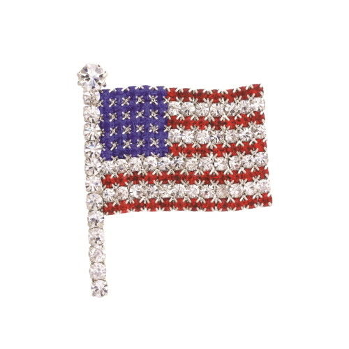 Patriotic Red White Blue American US Flag Star USA Pin Brooch