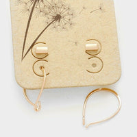 Rose Gold Minimalist Bar and Hoop Earrings