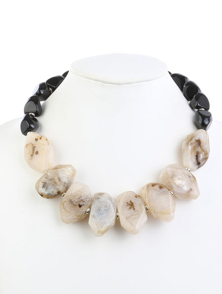 Statement Chunky Bead Necklace - Alana