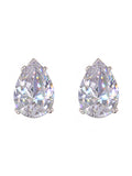 Teardrop CZ Cubic Zirconia Fashion Earrings