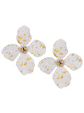 White Bloom Flower Stud Fashion Earrings