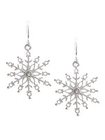 Winter Snowflake Drop Dangle Fashion Christmas Earrings