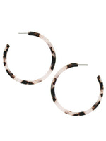 Women's Modern Round Resin Large Hoop Earrings