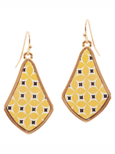 Wood Moroccan Boho Earrings