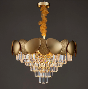 Metal and Brass Contemporary Shell shape  Chandelier