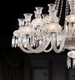 The court chrome crystal chandelier