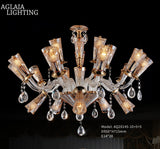 beacon amber crystal chandelier 20 lights