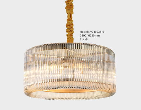 Curved Glass Chandelier - LA40038