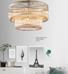 Curved Glass Chandelier - LA40038 - Aglaia lighting