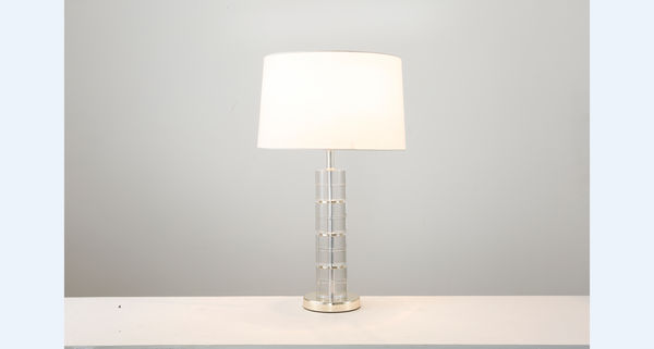 Polished Gold Crystal Contempory Table Lamp - Aglaia lighting