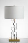 Crystal block misaligned Contemporary table lamp - Aglaia lighting