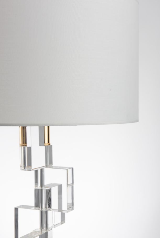 Crystal block misaligned Contemporary table lamp