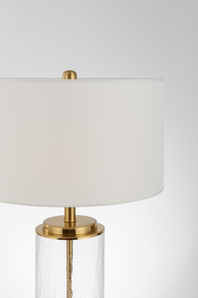 Crack glass table lamp