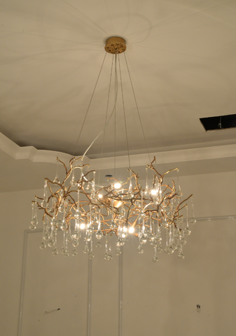 Flower Bed - Brass Chandelier