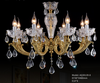 Clear Glass Plate / antique brass arms / Chandelier - AQ-30139 - Aglaia lighting