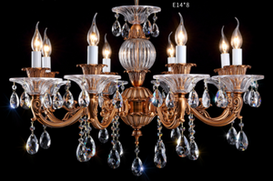 Coffee Antique Brass Chandelier - AQ-30137 - Aglaia lighting