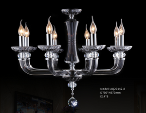 Ink Blue+Chrome Colour Crystal Chandelier - AQ-20142