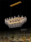 Long Size Forest Crystal Chandelier - AQ50065 - Aglaia lighting