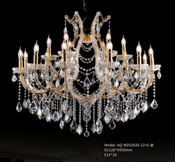 Crystal Chandelier - 52026-12+6 - Aglaia lighting