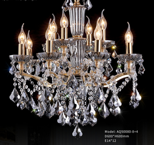 Smokey Glass Transparant Plate With Smokey Crystal Chandelier - AQ-50080 - Aglaia lighting