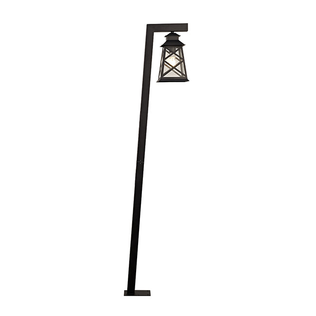 Crossing Line Metal Frame With Transparent Glass outdoor Garden Light- 17004E