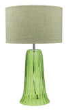 Green Glass Table Lamp / Living Room - Aglaia lighting