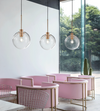 Rose Gold Clear Glass Pendant - Aglaia lighting