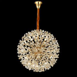 Lute 2020 Gold Body Crystal Chandelier