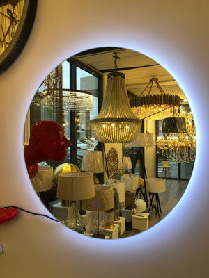 Led Mirrors / Round Shape + Pulg In Wire