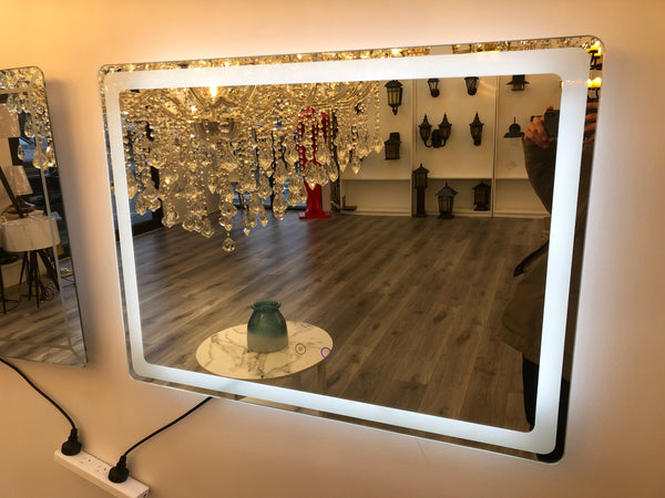Led Mirrors / Rantangle Shape + Pulg In Wire - Aglaia lighting