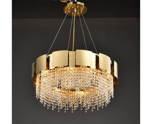TITANIUM CRYSTAL CHANDELIER - Aglaia lighting