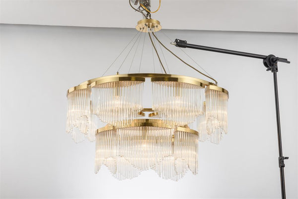 JADE EYES CHANDELIER - GOLD CHANDELIER - Aglaia lighting