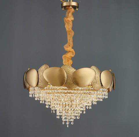 Shell - Contemporary Chandelier (Smaller Crystal Version) - Aglaia lighting