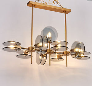Modern D - Contemporary Glass Chandelier - Aglaia lighting