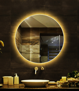 smart mirror In round Shape, with led light for bathroom mirror + makeup mirror