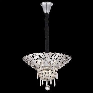 cartern crystal chandelier chrome