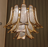 Gold Sleeve Gold Colour Crystal Chandelier
